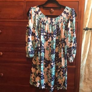 Umgee + floral 1X tunic